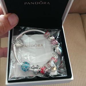 Jewelry - Pandora bracelet with 11 charms new in box